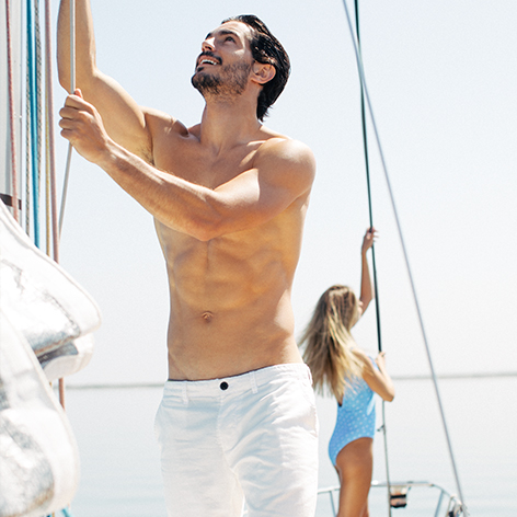 SAIL AWAY - Get to know man shorts here
